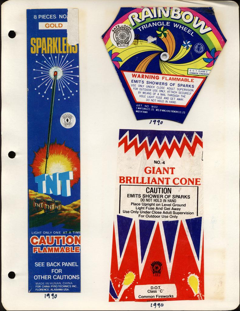 Vintage Fireworks Packaging