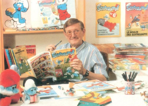 Peyo aka Pierre Culliford and the father of the Smurfs.
