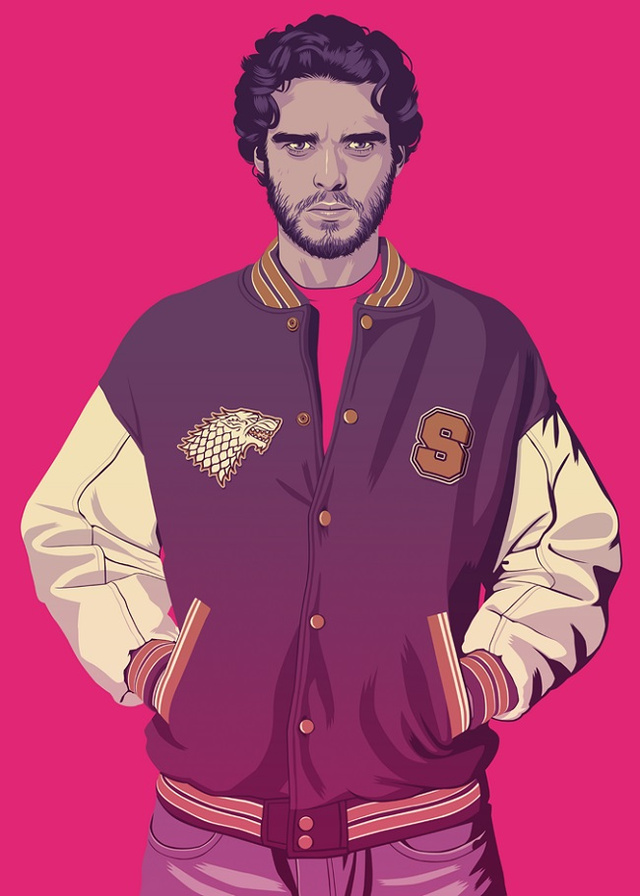 Robb Stark | Illustration by Mike Wrobel