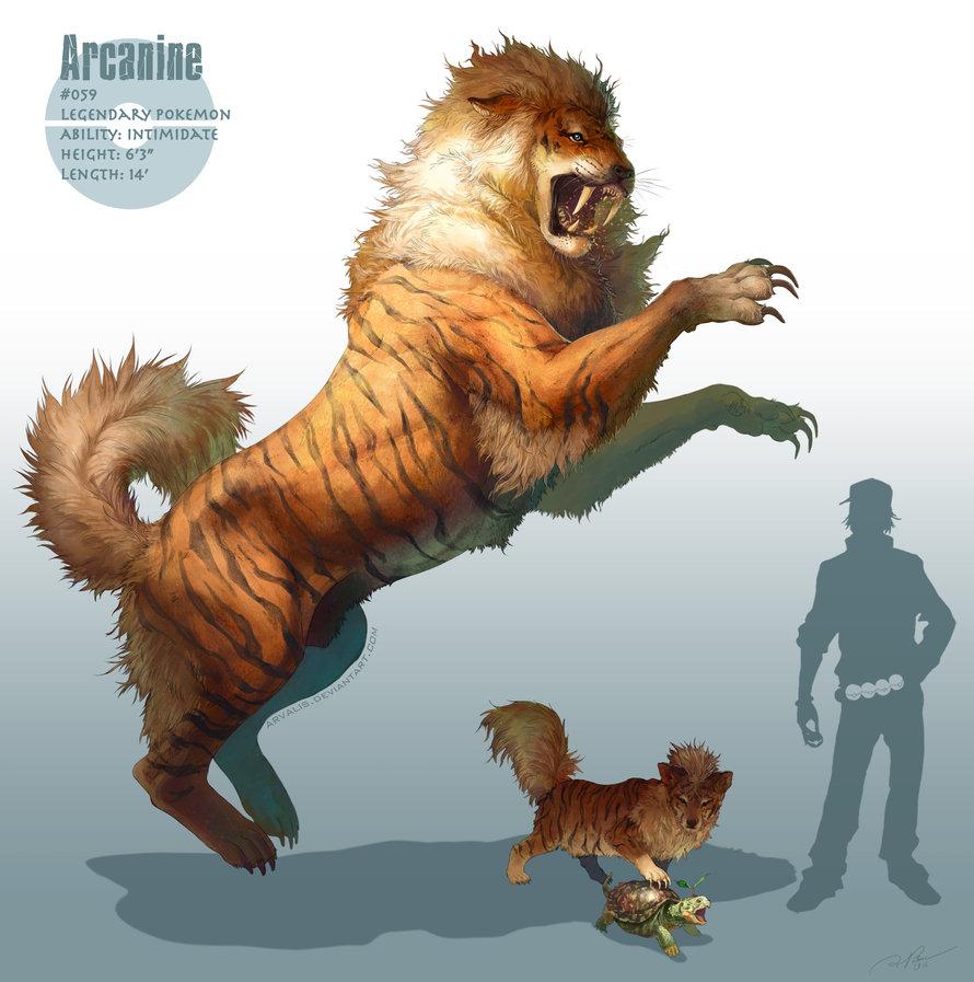 Arcanine | Illustration by RJ Palmer