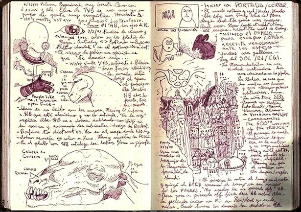A Peek at Guillermo Del Toro's Sketchbook