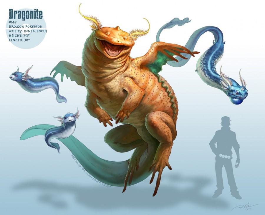 Dragonite | Illustration by RJ Palmer