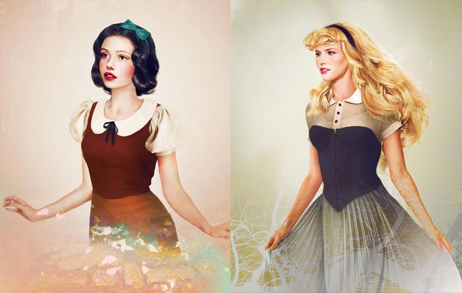 Snow White and Princess Aurora by Jirka Väätäinen