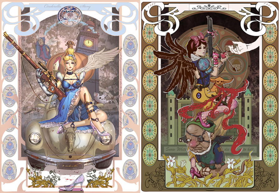 Cinderella and Snow White Steampunk by Inshoo