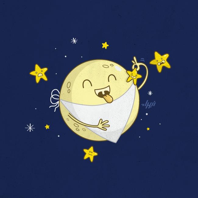 Днем рождения, луна картинки смешные
