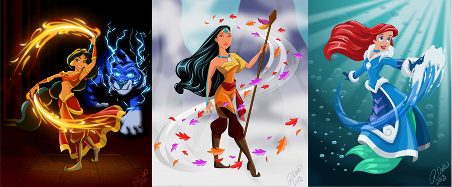 Disney X Avatar Crossover by Robby Cook