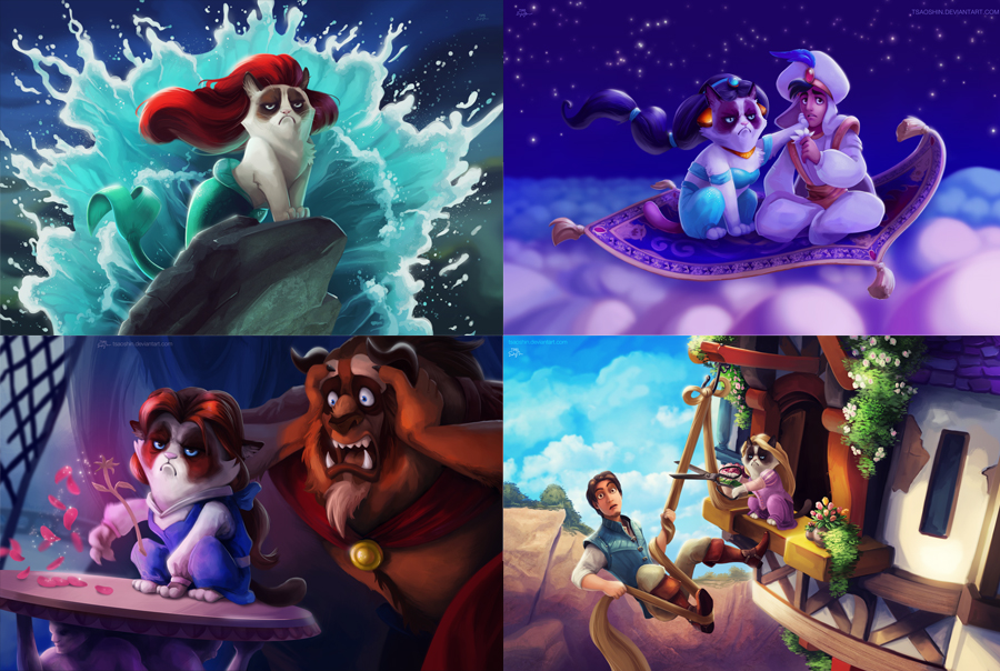 Grumpy Cat Disney Mash-up by Eric Proctor