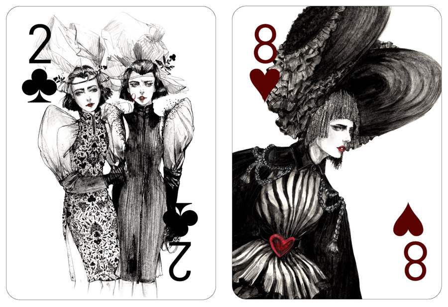 Fashion Playing Cards Project by Connie Lim