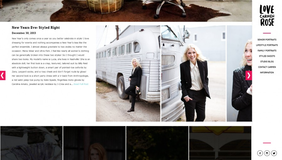 Awesome Web Design of the Week: Love Carmen Rose