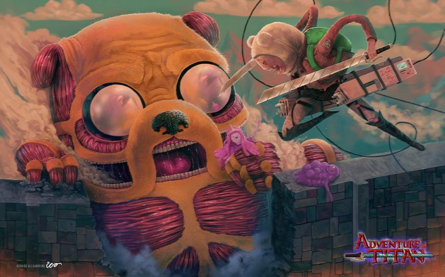Adventure on Titan - Double Fanart by RodrigoICO