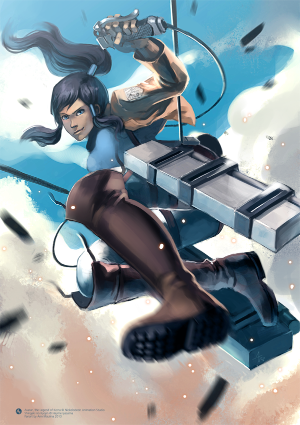 Korra's Attack on Titan by N-Maulina