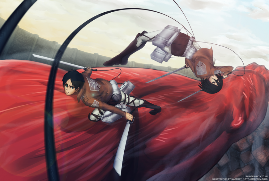 Attack on Titan by Marfrey