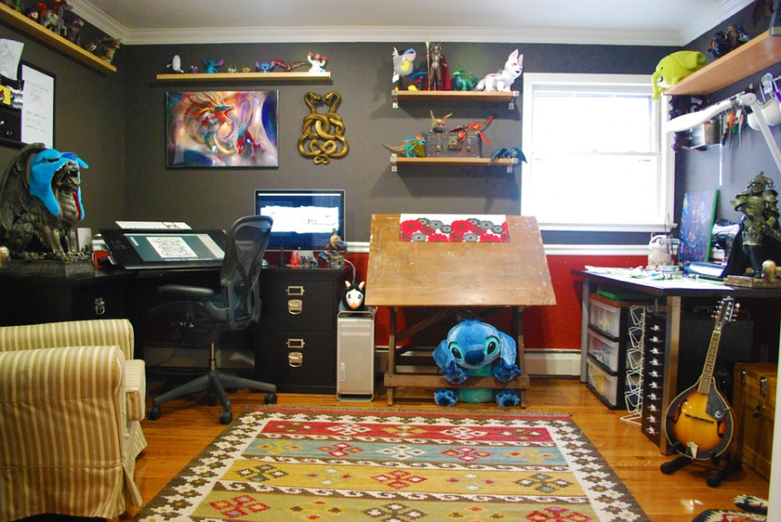 Work space of Eric Proctor