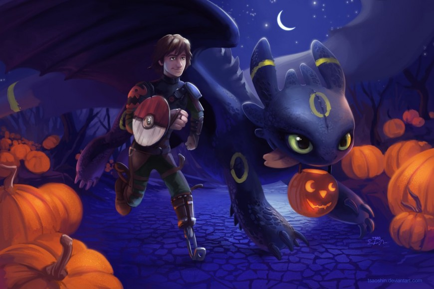 A Very HTTYD Halloween by TsaoShin