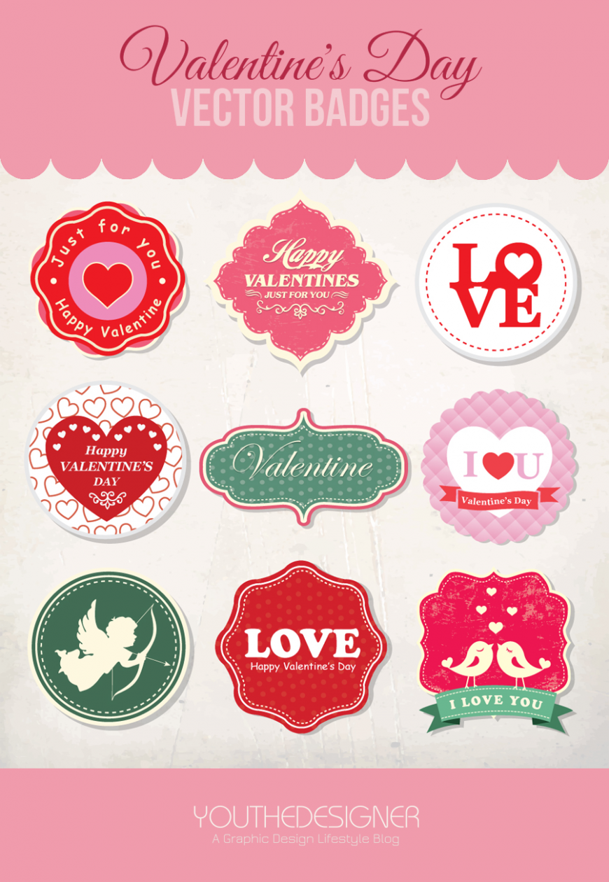 9 free valentine u0027s day vector badges