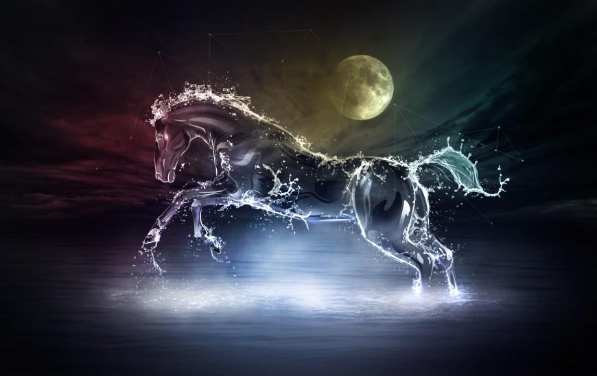 Celestial Water Stallion by Niño Batitis
