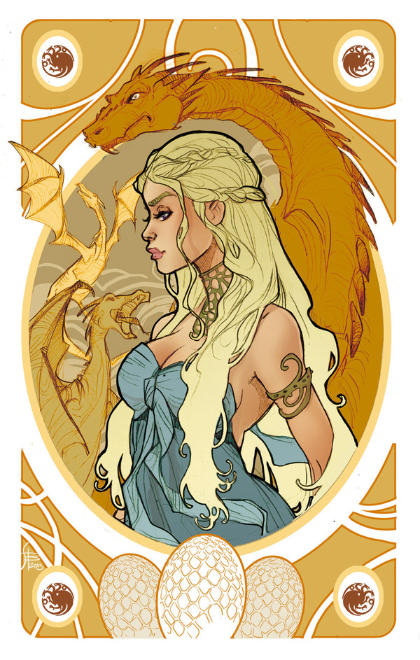 Game of Thrones' Cards by Simona Bonafini