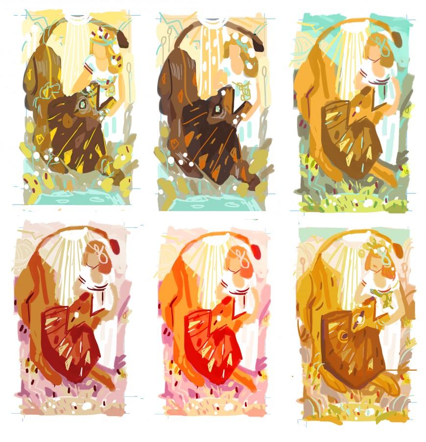 color sketches for tarotcard