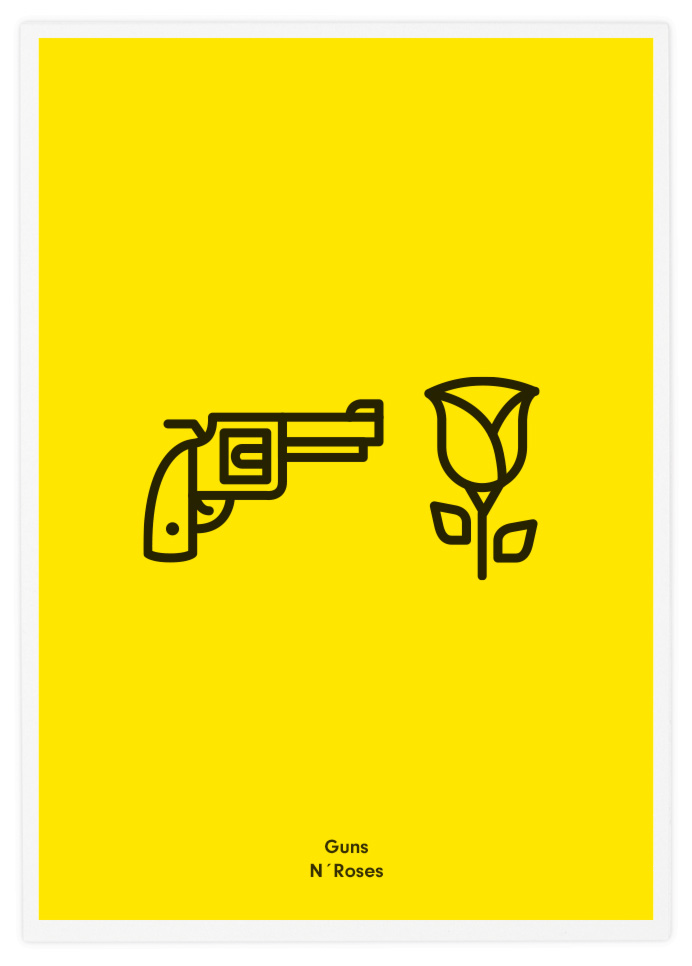 Poster-Design-Pictogram-Guns-n-Roses