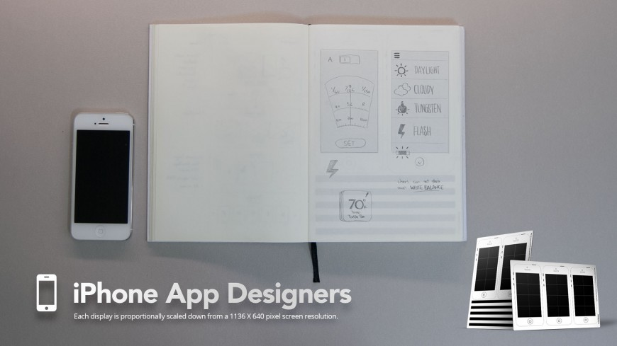 SketchyNotebook - Phone App Design