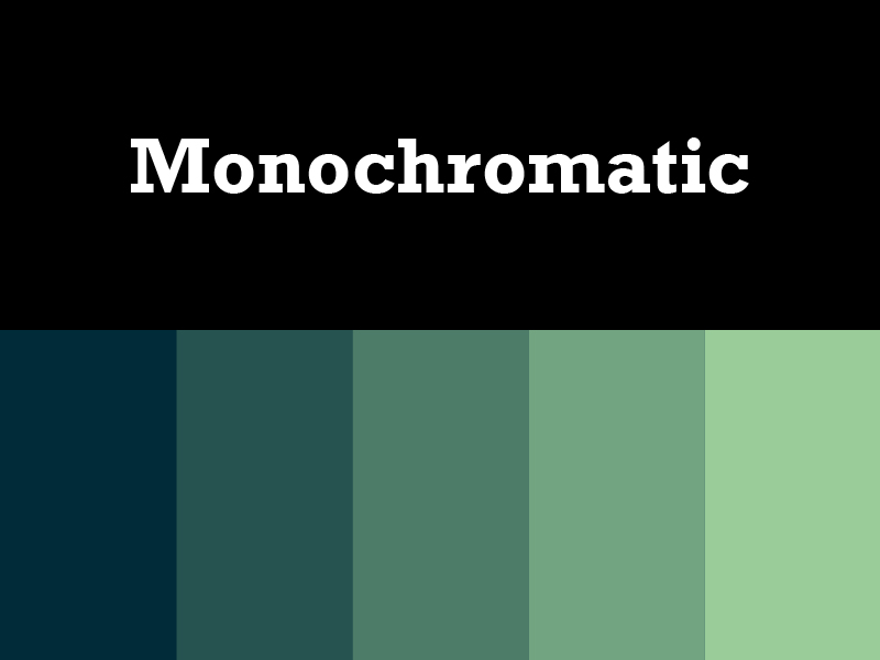 What Is Monochromatic Color Scheme monochromatic color palette - home design