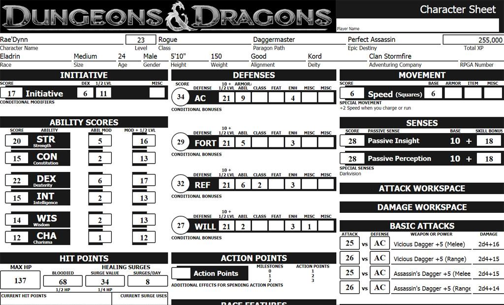 DDMSReal.com -Character sheet