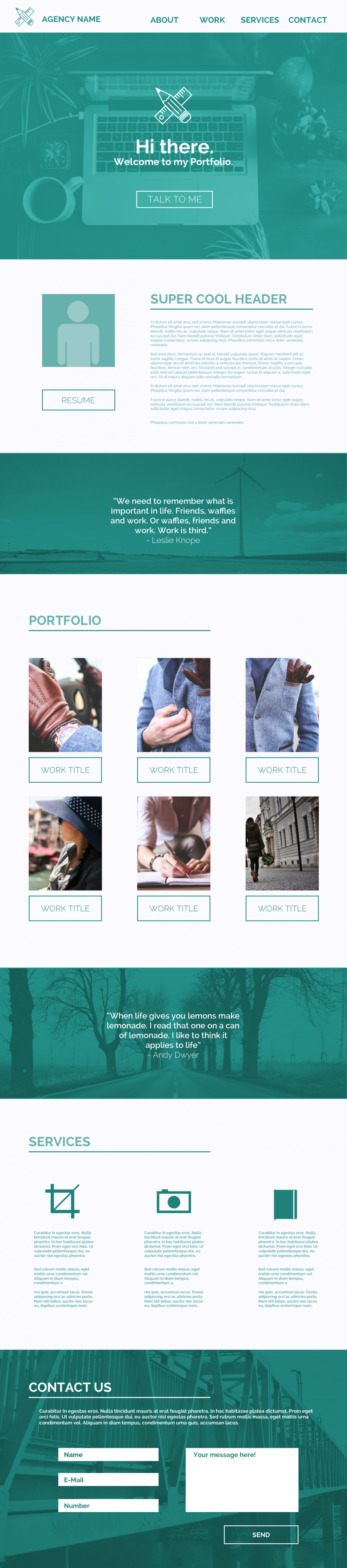 One Page Webdesign from YouTheDesigner