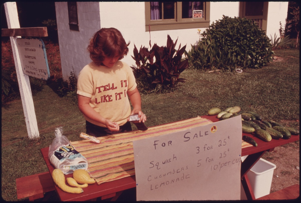 YOUNGSTER_MANS_A_ROADSIDE_STAND_SELLING_SQUASH,_CUCUMBERS_AND_LEMONADE_ON_SIMS_ROAD_AND_GEORGIA_HIGHWAY_356_AT..._-_NARA_-_557757.tif
