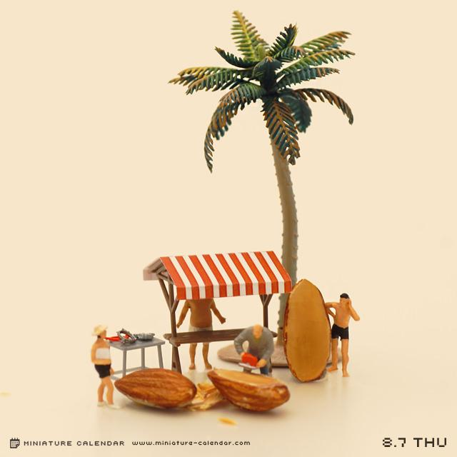 Tanaka Tatsuya - miniature calendar