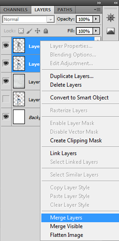 Step 10 - Merge layers
