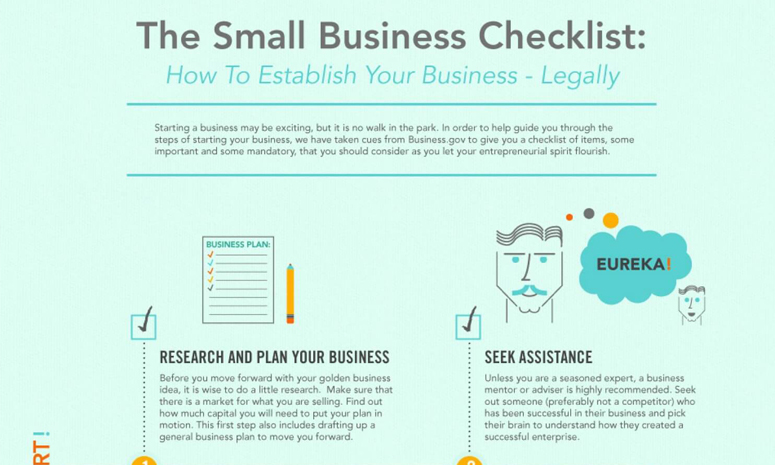 Entrepreneurial Success Checklist | 10 Steps To Legally Starting A Business Infographic