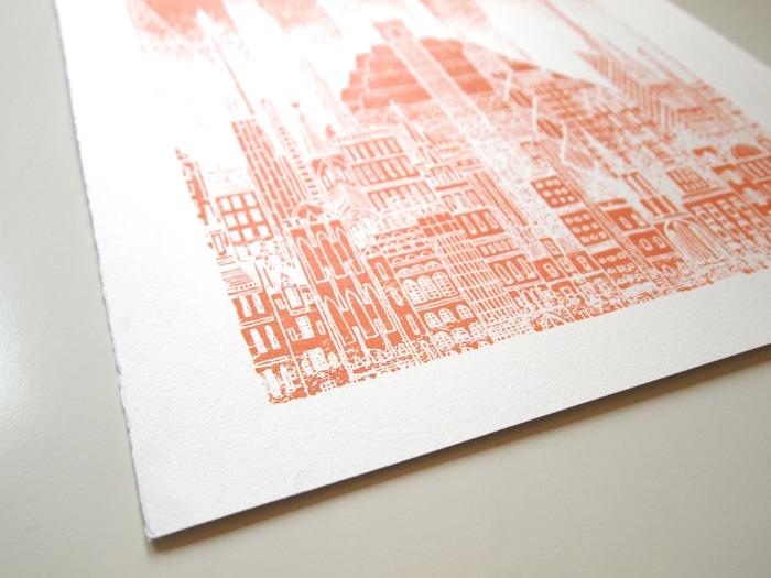 Test prints show the subtle textures that the printing process produces.