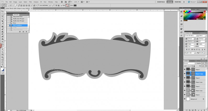 2_Create banner Vector using pentool
