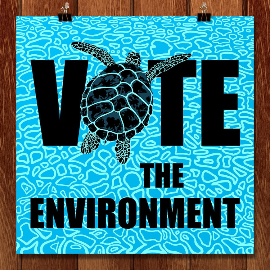 Vote-the-Environment-Poster-Candy-Medusa-Black-Dwarf-Designs