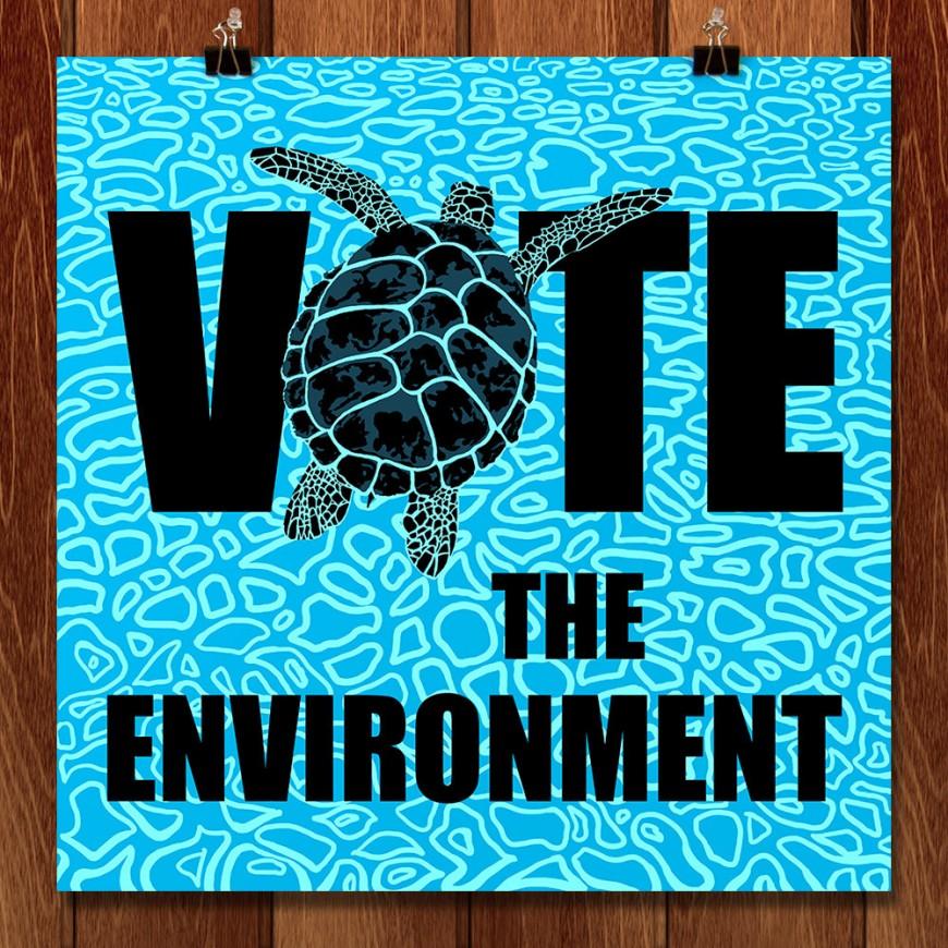Vote-the-Environment-Poster-Candy-Medusa-Black-Dwarf-Designs