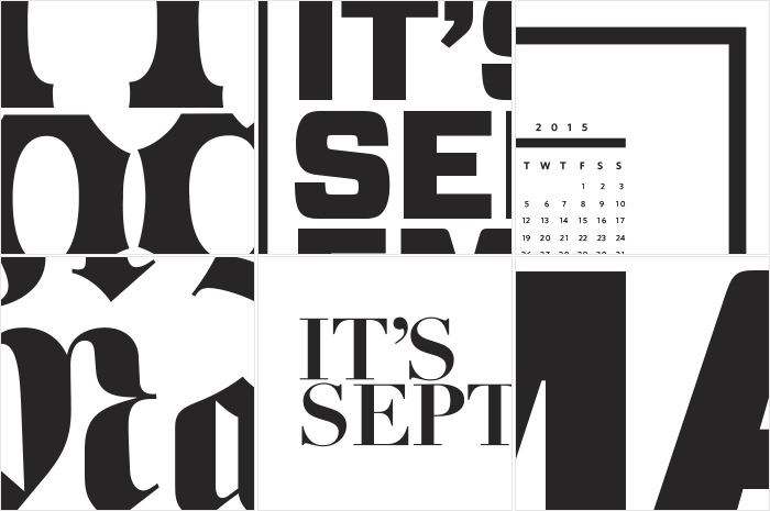 A few of the many iterations of the calendar design