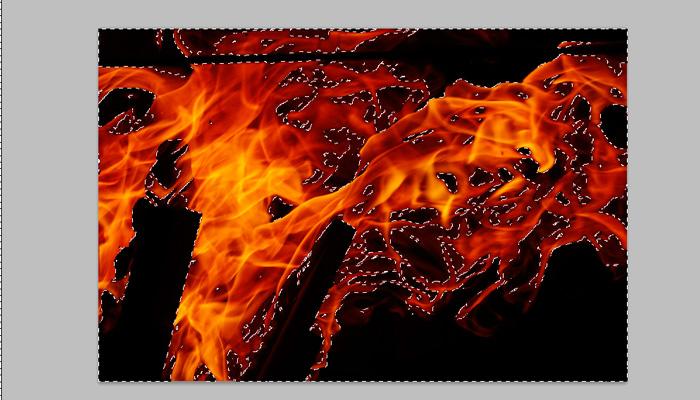 6 - open fire photo then drag