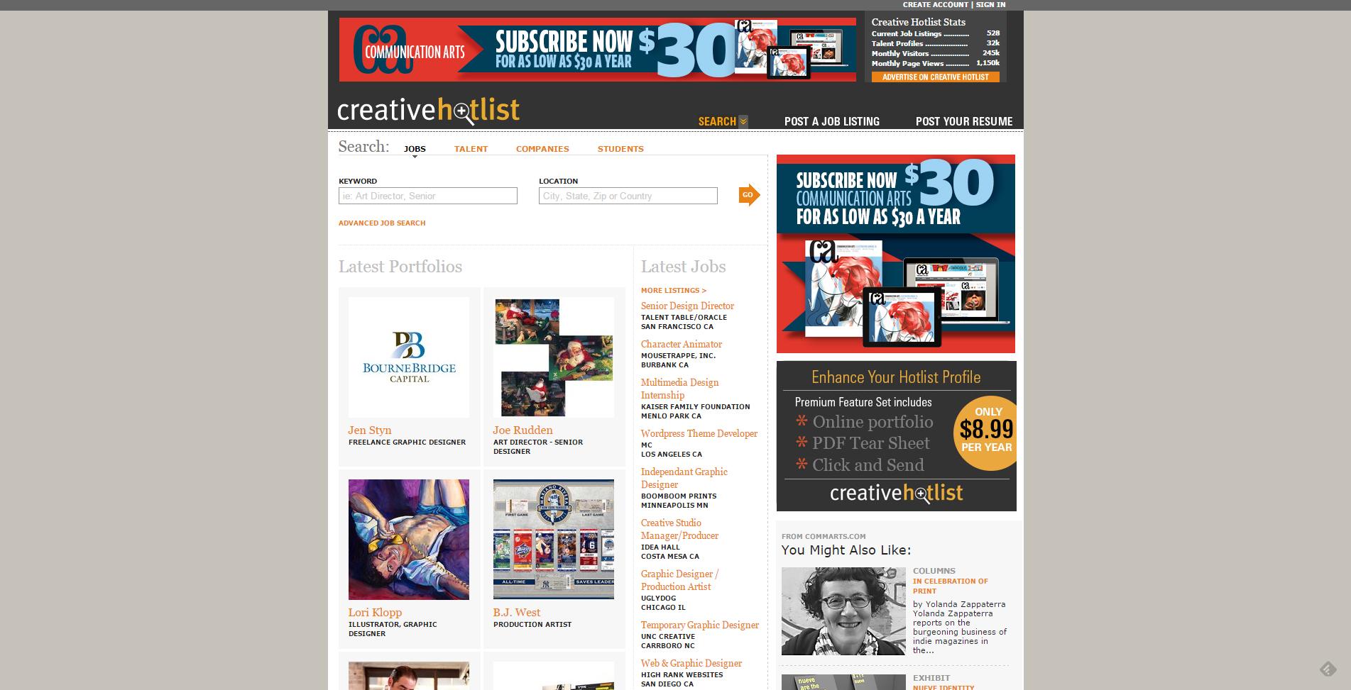 Jobs Creativehotlist
