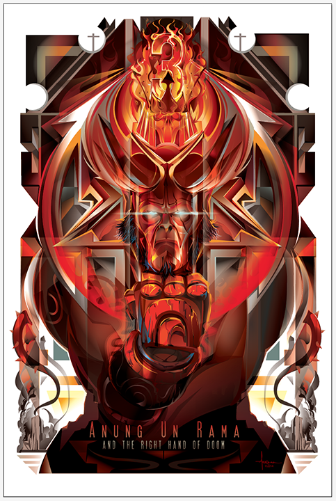 Hellboy 3 - Anung Un Rama & the Right Hand of Doom by Orlando Arocena