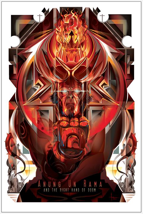 Hellboy 3 - Anung Un Rama & the Right Hand of Doom by Orlando Arocena