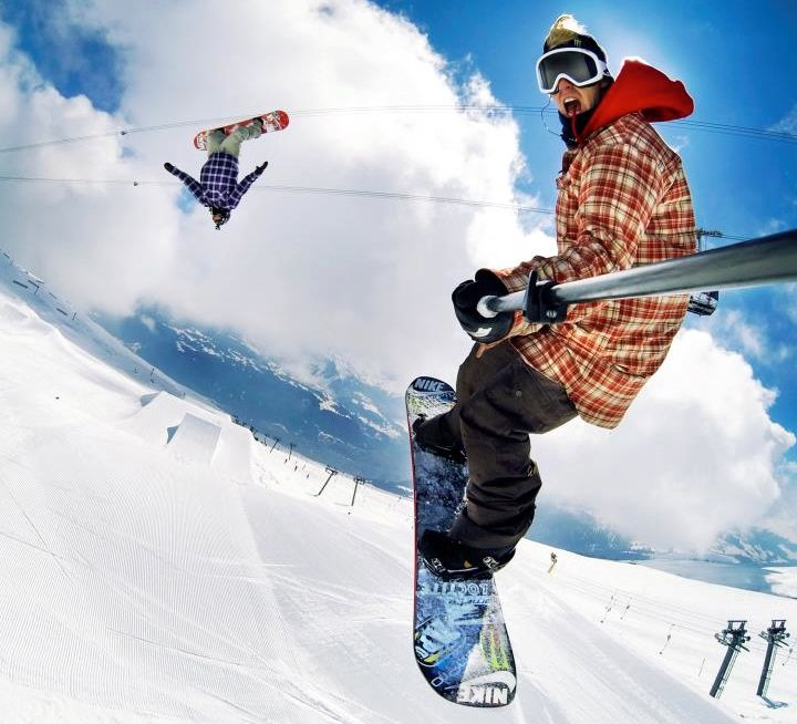 go pro skiing