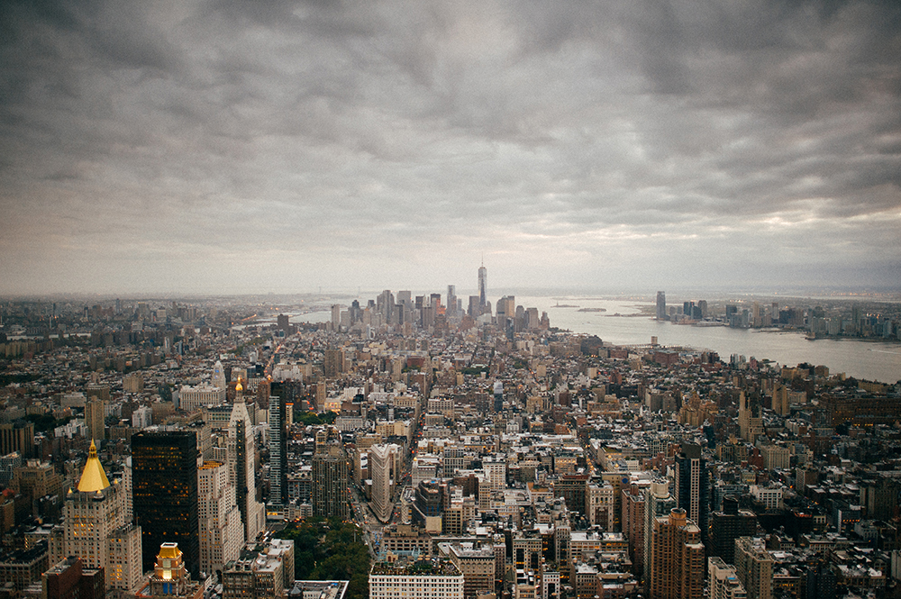 Manhattan Cloudy by Jonathan Udot