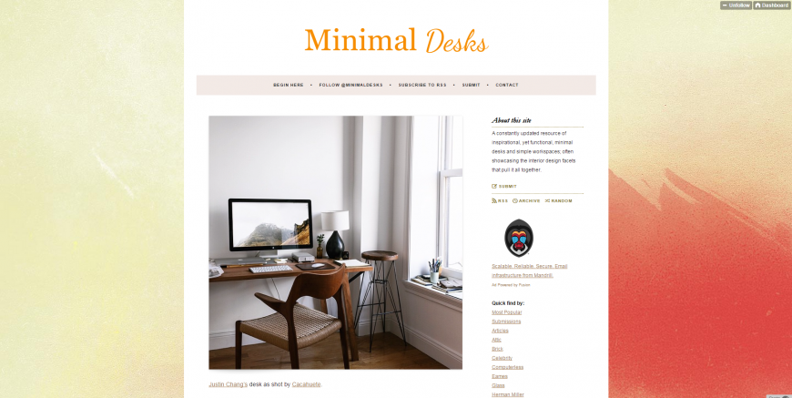 Minimal Desks   Simple workspaces  interior design