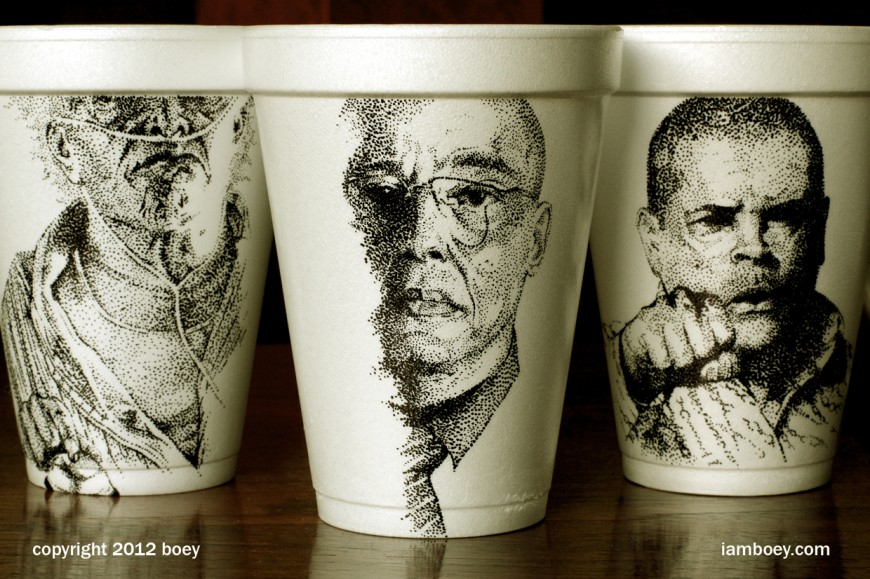 Finest Cheeming Boey's intricate coffee cups illustrations JE47