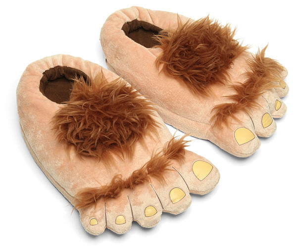 Hobbit Feet via Think Geek