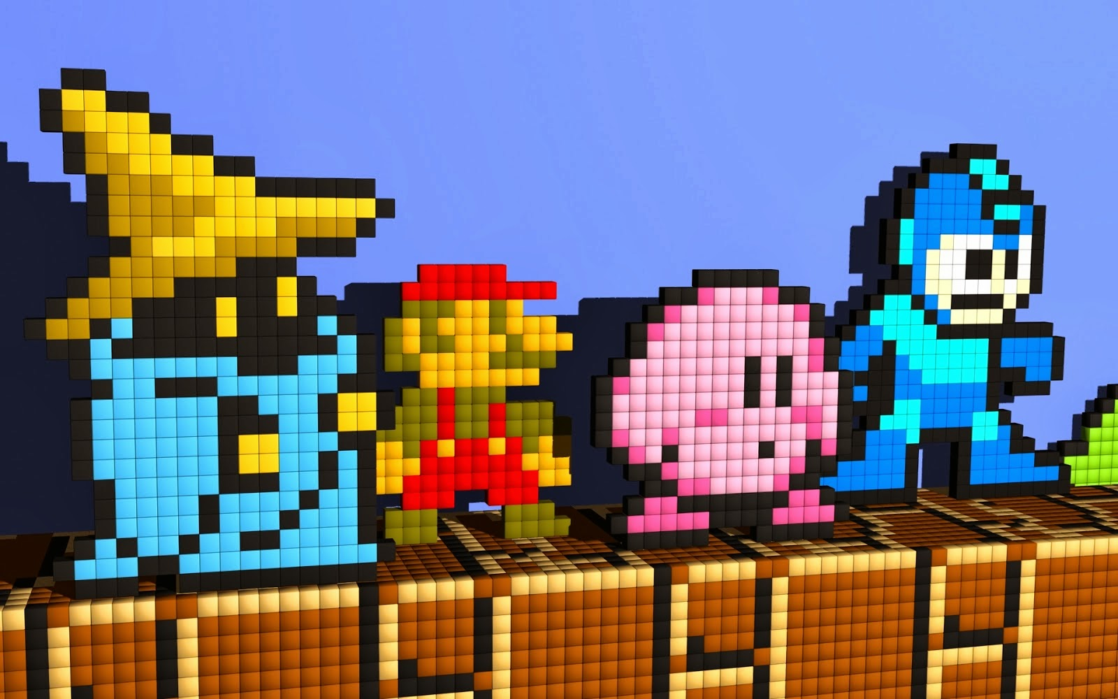 8 bit Black Mage Mario Kirby Megaman