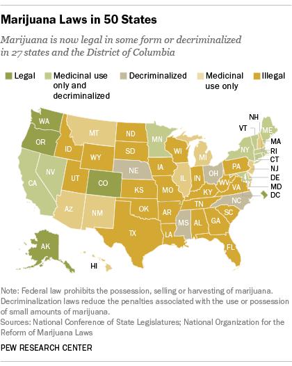 Legality Map for Marijuana