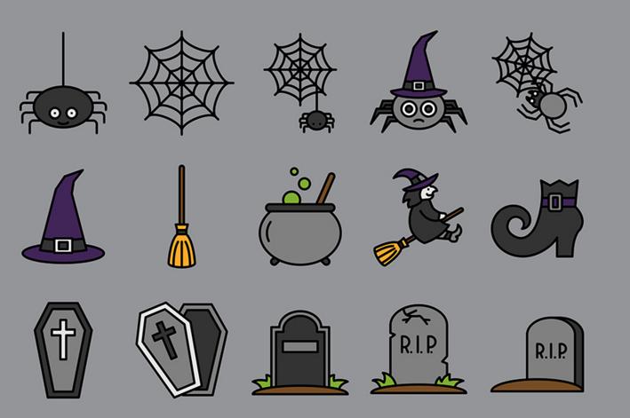 Selin Ozgur halloween icons