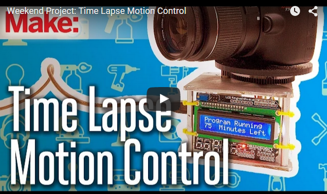Time lapse motion control rig