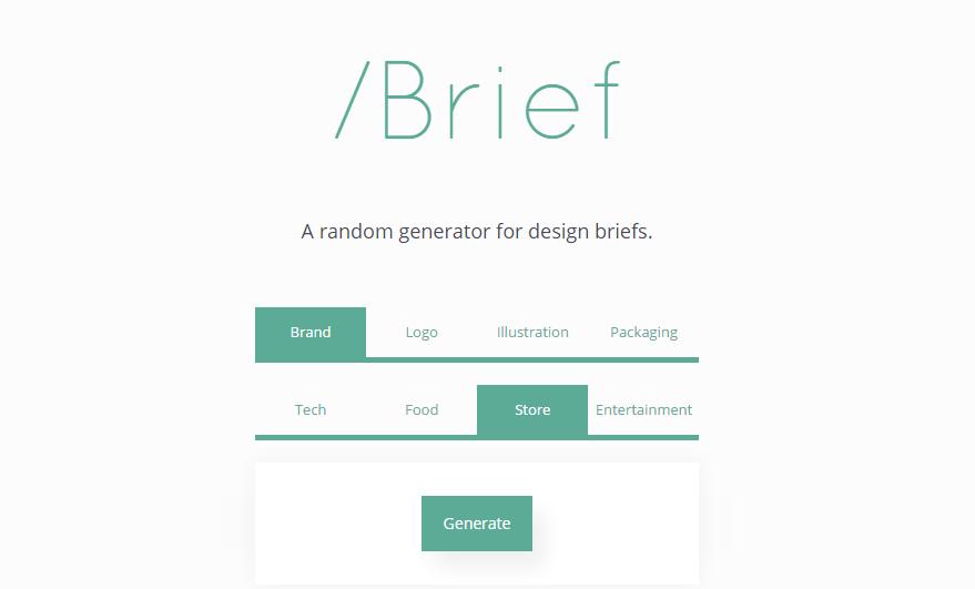 Designer Creates Website For Randomly Generated Design Briefs